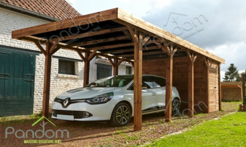 installez un carport en bois avec pandom. Black Bedroom Furniture Sets. Home Design Ideas
