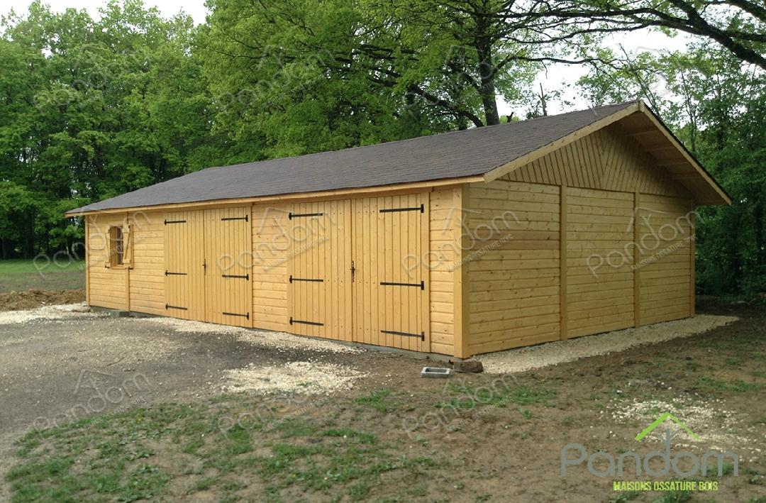 garage en bois pour particuliers