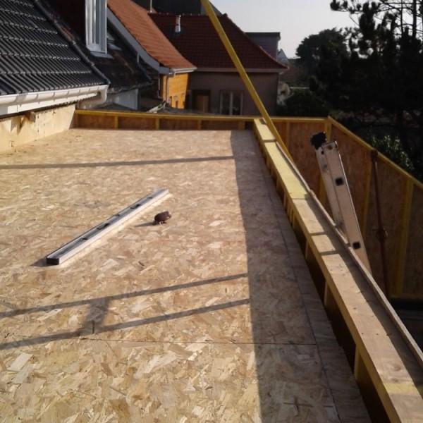 Toiture terrasse - extension maison ossature bois