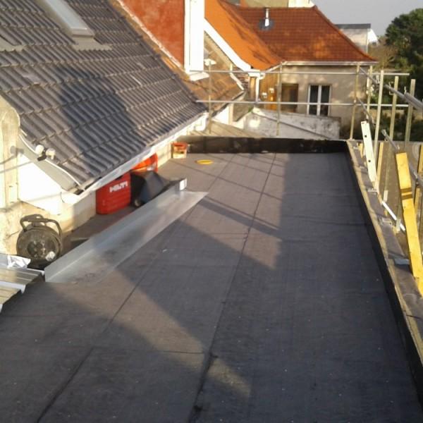 Etanchéité de la terrasse -extension de maison ossature bois